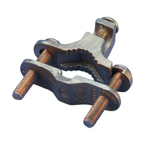 Rebar grounding clamp