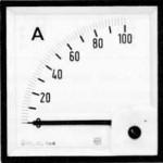 IME D.C. Ammeter 90 º Scale
