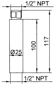 tws extension shaft drawings