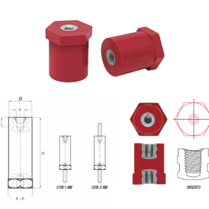 Spacing Stud Bolts Type CS/P with Hexagonal Base