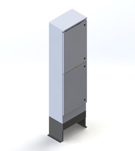 RFE Split Door Cabinet - Three/Single Phase Metered c/w Customer Section