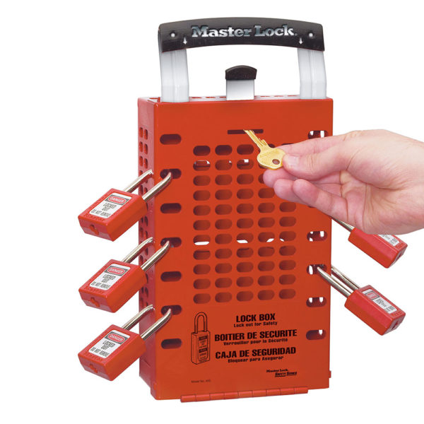 503RED Latch Tight Group Lockout Box In Red