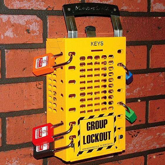503Yellow Latch Tight Group Lockout Box In Yellow