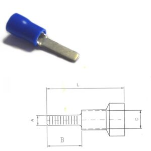 Pre-Insulated Flat Pin Terminals