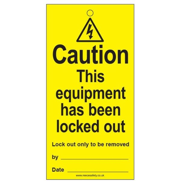 RLT05 Reusable Lockout Tags Caution This Equipment Has Been Locked Out