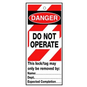 RLTT08B Lockout Safety Tags 'Danger Do Not Operate'