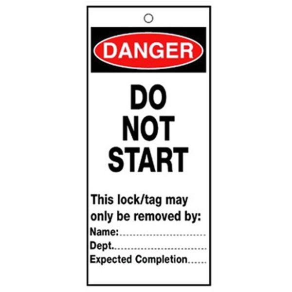RLTT10B Lockout Safety Tags - 'Danger Do Not Start'
