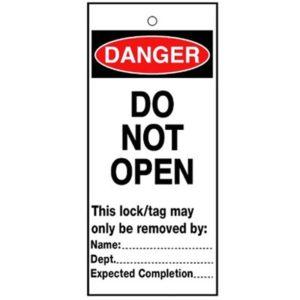 RLTT11B Lockout Safety Tags - 'Danger Do Not Open'