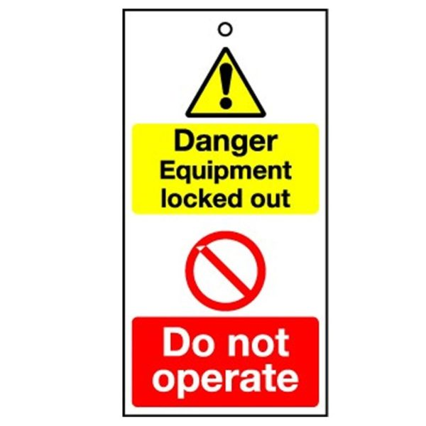 RPT32 Reusable Lockout Tags Danger Equipment Locked Out - Do Not Operate