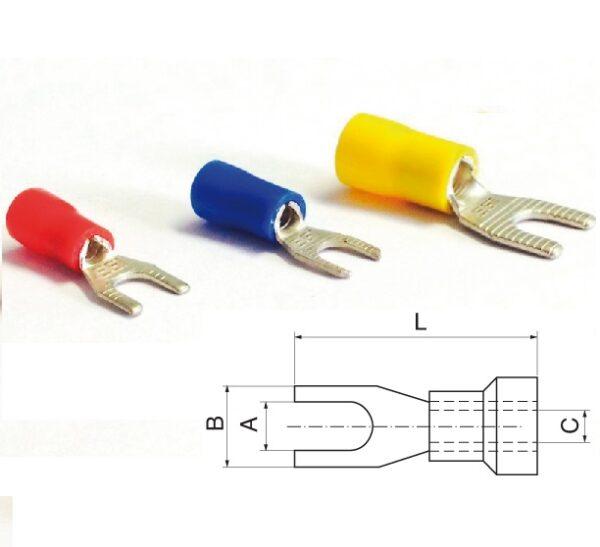 Pre-Insulated Spade Terminals 0.25-6mm